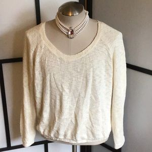 Zara Trafaluc Off White Sweater Pullovers Size Med